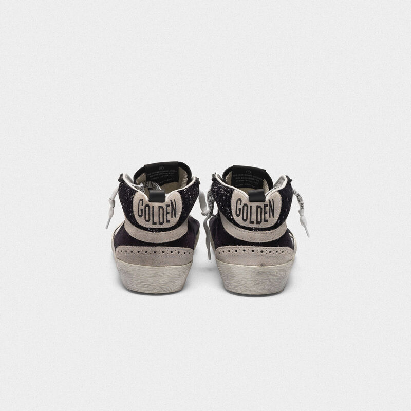 Golden Goose - Sneakers Mid-Star in velluto, suede e retro con glitter in  image number null