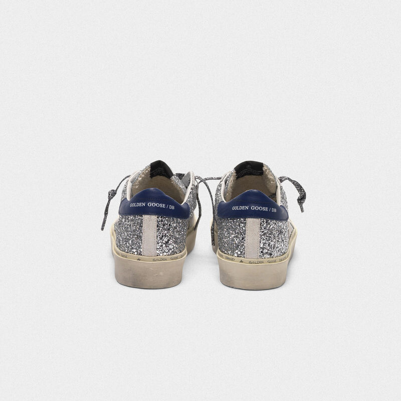 Golden Goose - Hi Star sneakers with glitter, white star and leopard print laces in  image number null
