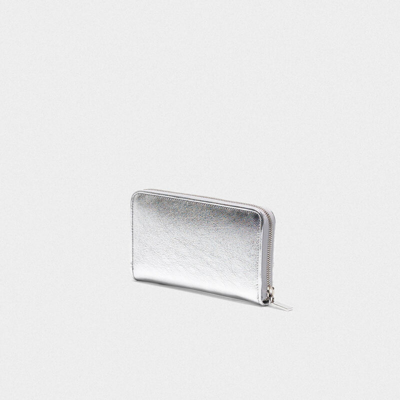 Golden Goose - Portafoglio Star Wallet large argentato   in  image number null