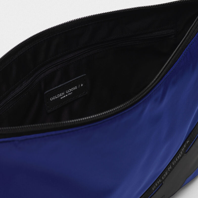 Golden Goose - Large royal blue nylon Journey pouch in  image number null