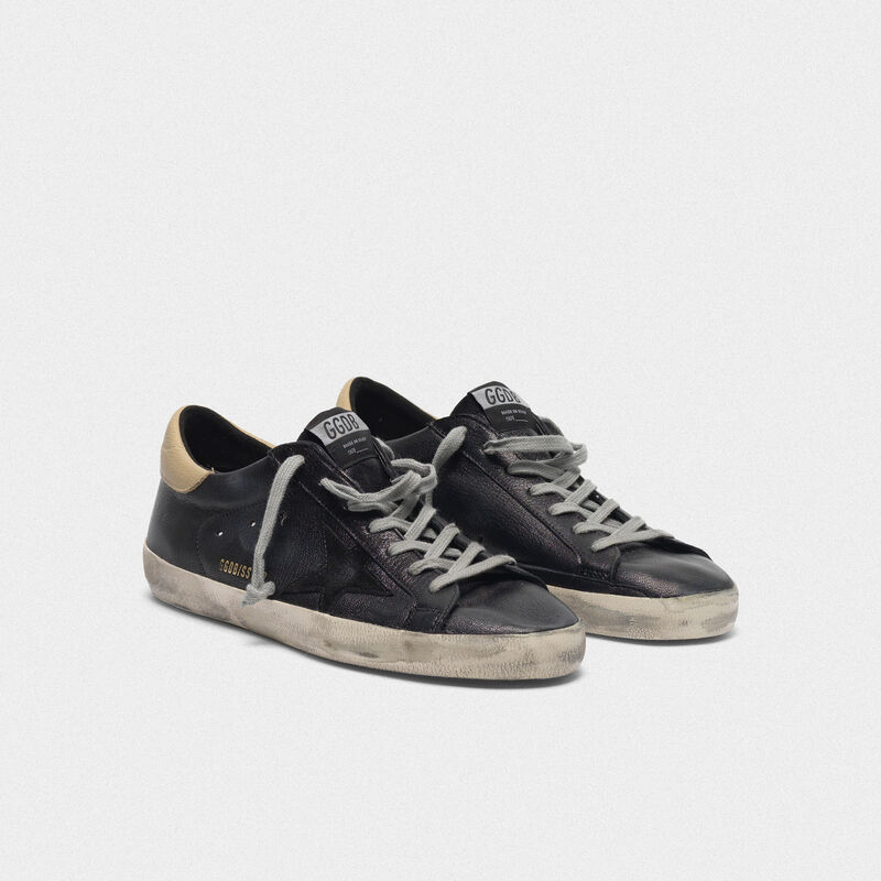 Golden Goose - Black Superstar sneakers with nude heel tab in  image number null