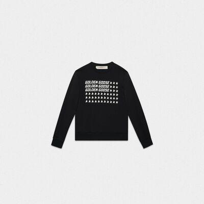 Black Catarina sweatshirt with Flag print