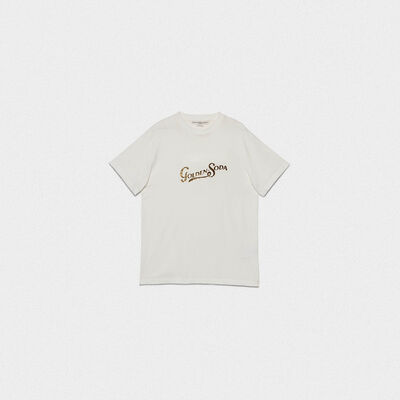 T-shirt Golden con stampa soda foil