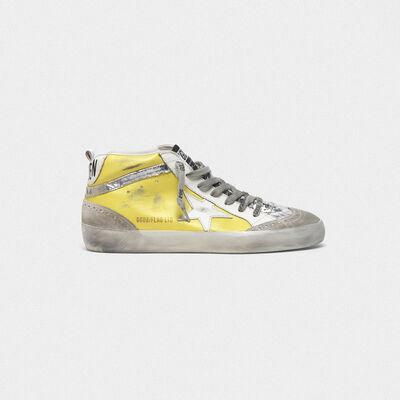 Sneakers Mid-Star con inserti in camoscio e dettagli cracklé