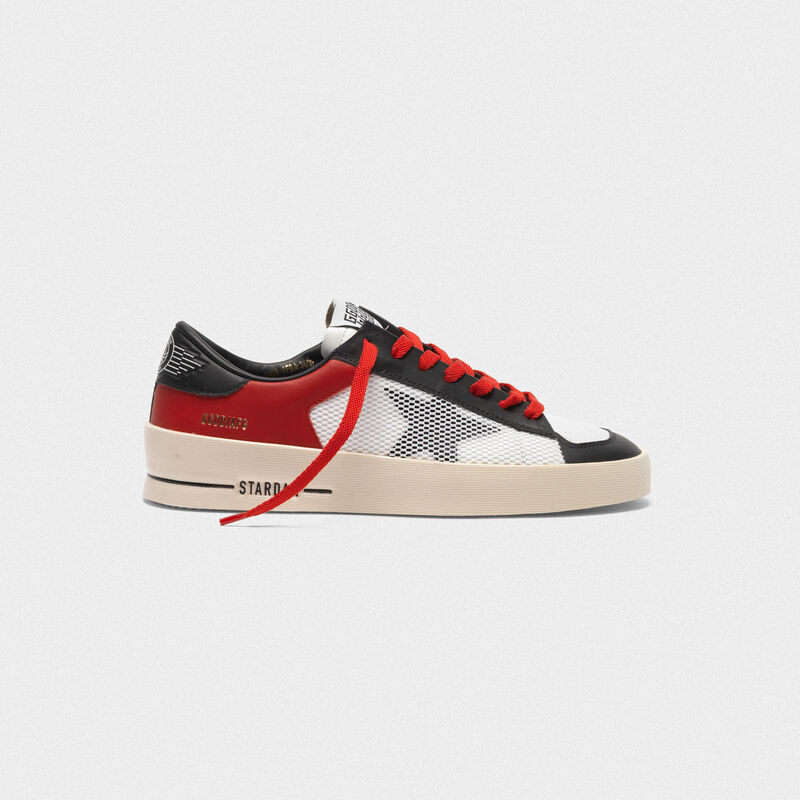 Golden Goose - Sneakers Stardan rosse e bianche in  image number null