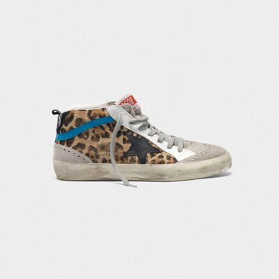 Sneakers Mid-Star in cavallino stampa leopardata