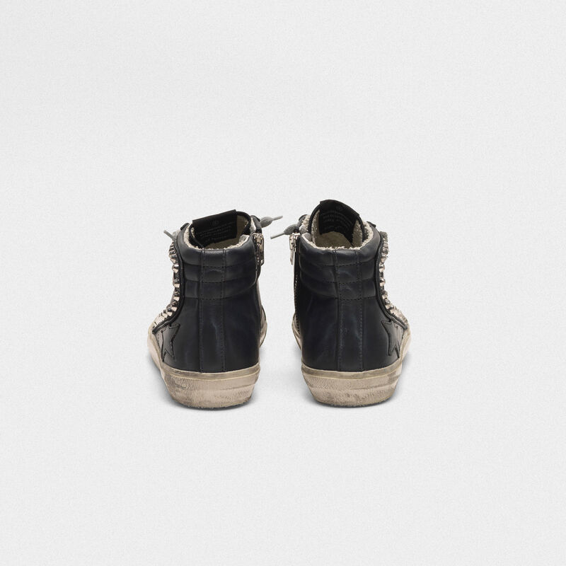 Golden Goose - Sneakers Slide con borchie applicate in  image number null