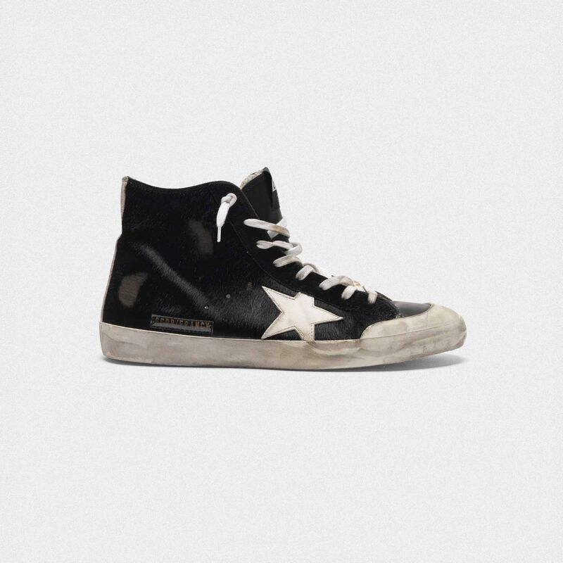 Golden Goose - Francy sneakers in pony skin with contrast star in  image number null