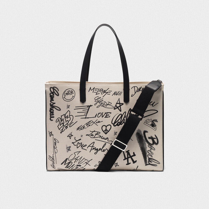 Golden Goose - Graffiti print East-West California Bag in  image number null