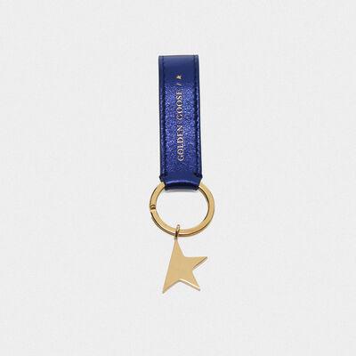 Portachiavi Star Keyring blu metallizzato