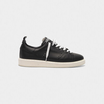 Sneakers Starter in pelle total black