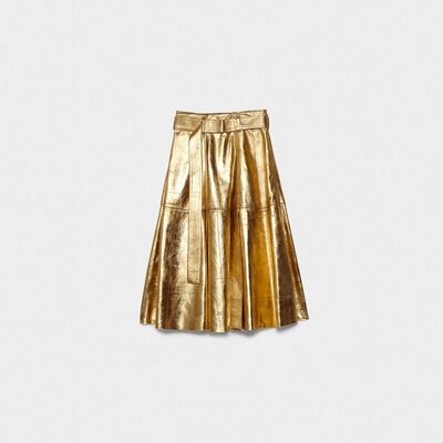 Akemi gold leather skirt