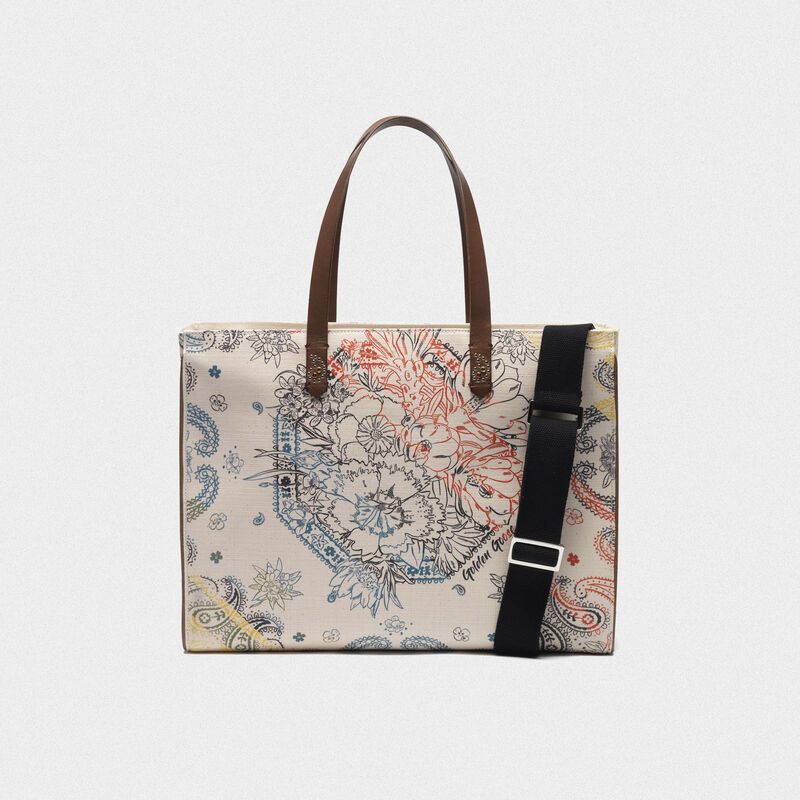 Golden Goose - Borsa California East-West stampa bandana in  image number null