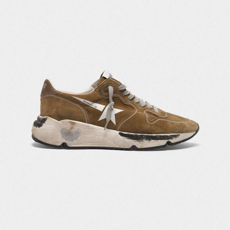 Golden Goose - Sneakers Running Sole in suede con stella bianca in  image number null