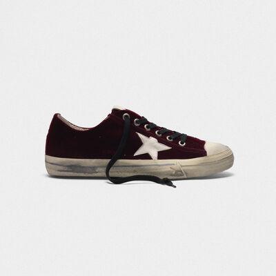 V-Star sneakers in velvet with leather star