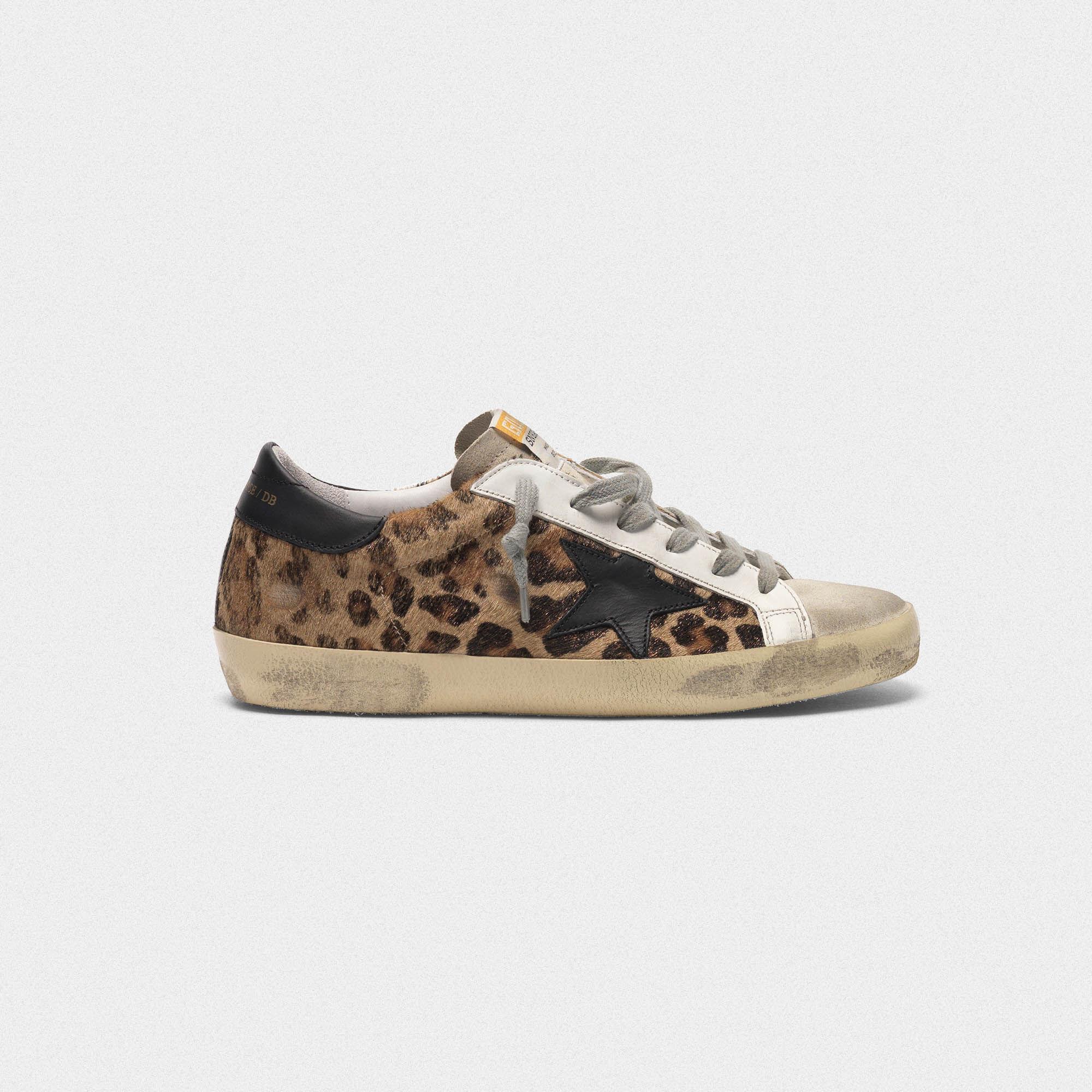 Geflocktem Aus Superstar Sneakers Leder Leoparden Print Mit gb7Yf6vIy
