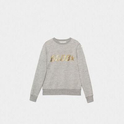 Grey Aiako sweatshirt in pure cotton with logo print