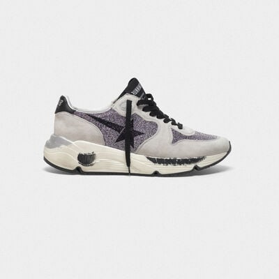 Sneakers Running Sole in pelle con cristalli