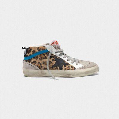 Sneakers Mid-Star in cavallino stampa leopardata