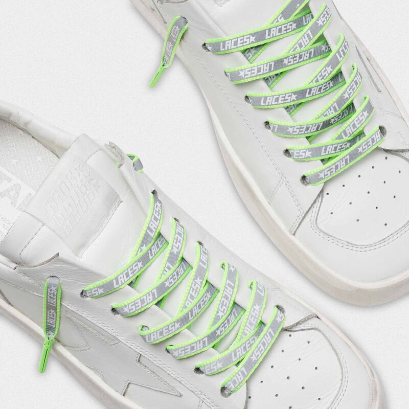 Golden Goose - Women's neon green reflective laces with laces print in  image number null