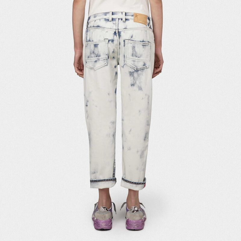 Golden Goose - Amy boyfriend jeans in denim with spots in  image number null
