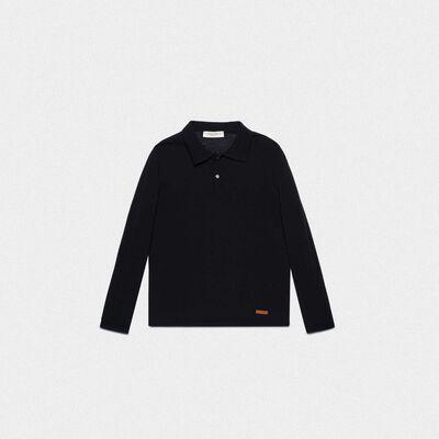 Polo Isaac nera in maglia di cotone