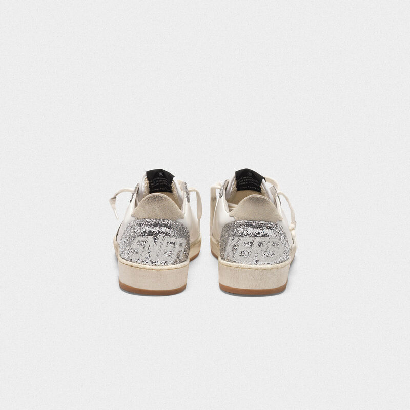 Golden Goose - Ball Star sneakers in leather with glittery inserts in  image number null