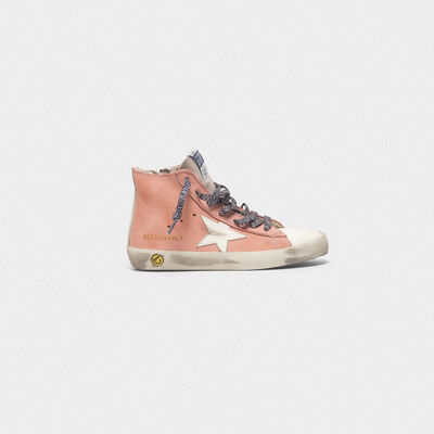 Francy sneakers in leather with suede tongue