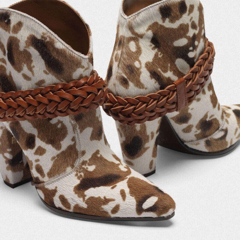 Golden Goose - Low cow-print Michelle ankle boots in  image number null