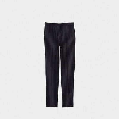 Seiji trousers in wool with adjustable waist