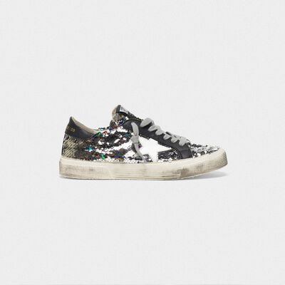 Sneakers May con paillettes e stella lucida