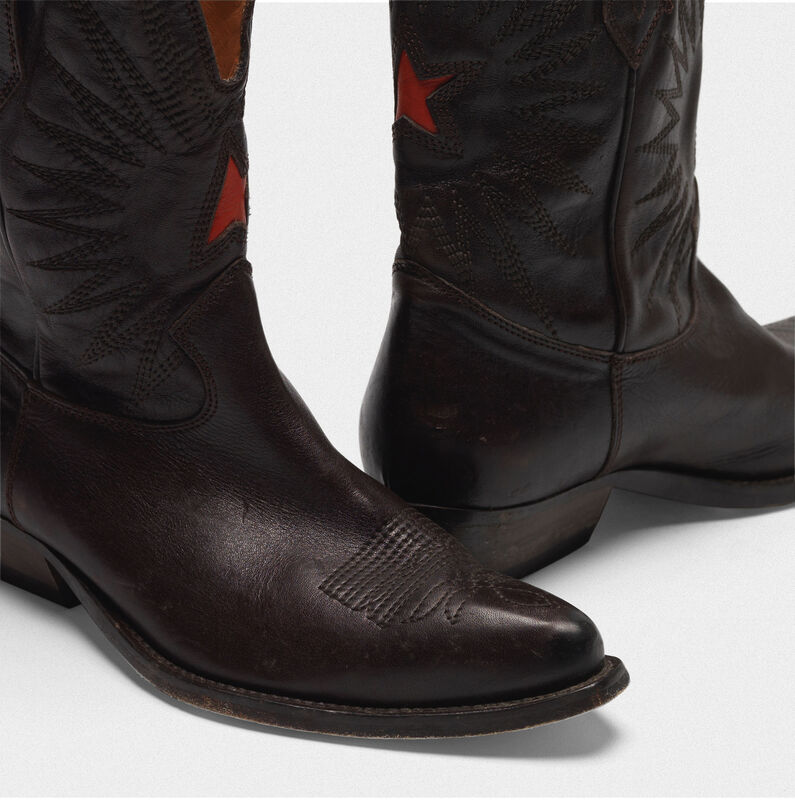 bce78556e9c Low Wish Star boots in leather with GGDB star