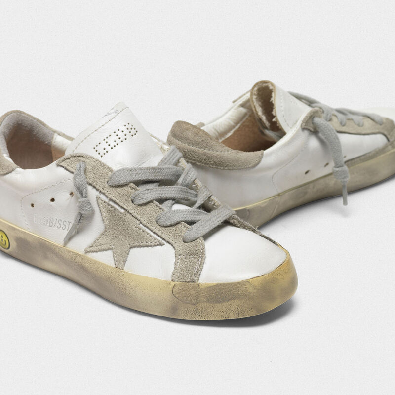 Golden Goose - Sneakers Superstar con dettagli in camoscio in  image number null