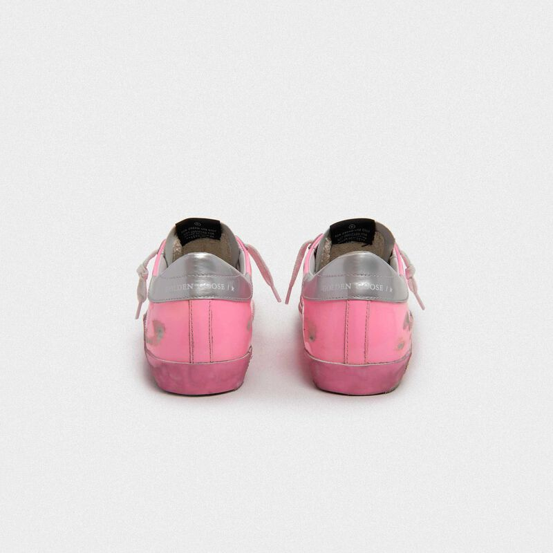 Golden Goose - Pink Superstar sneakers with silver heel tab in  image number null