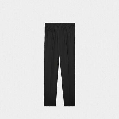 Black Luke joggers in wool