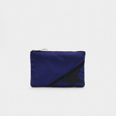 Large royal blue nylon Journey pouch