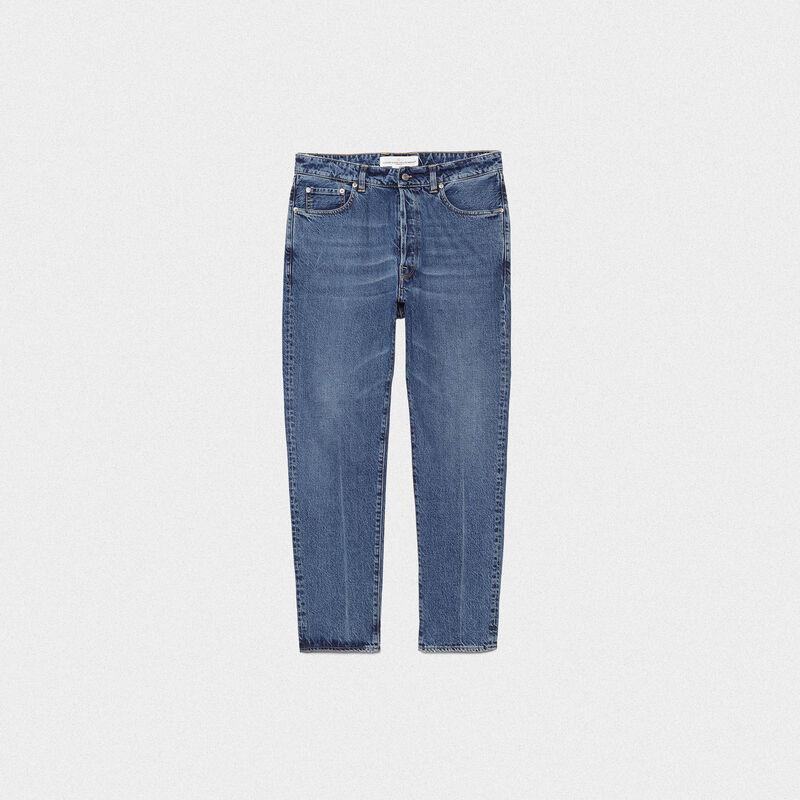 Golden Goose - Jeans Happy slim fit in denim di cotone in  image number null