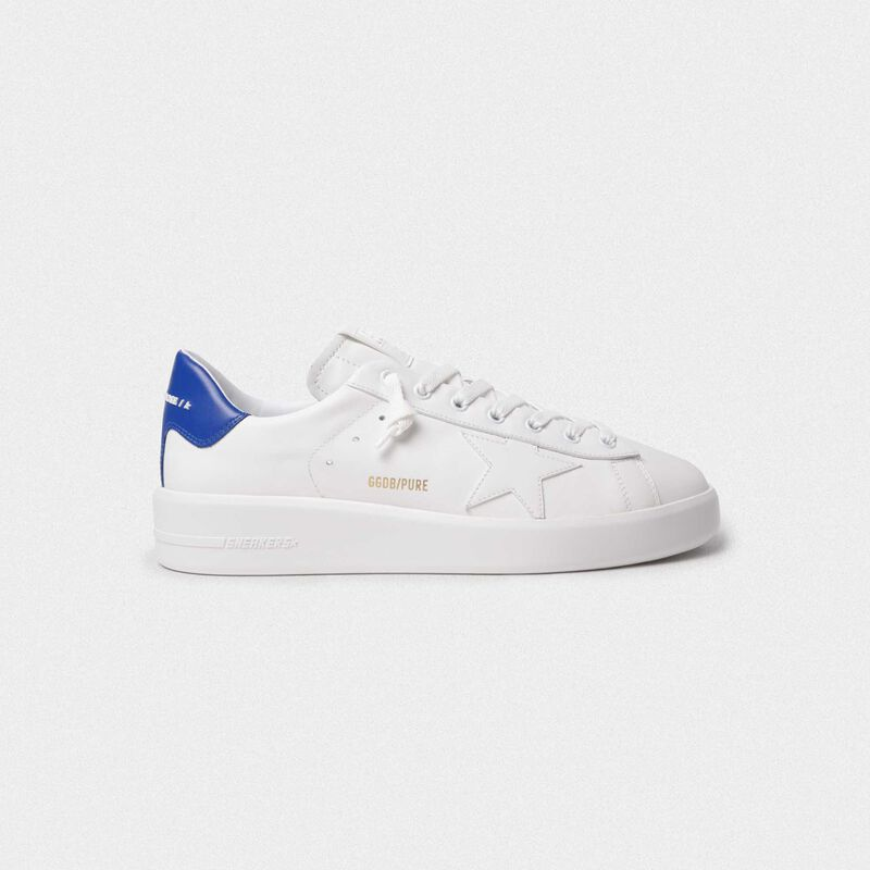 Golden Goose - Sneakers PURESTAR talloncino blu in  image number null