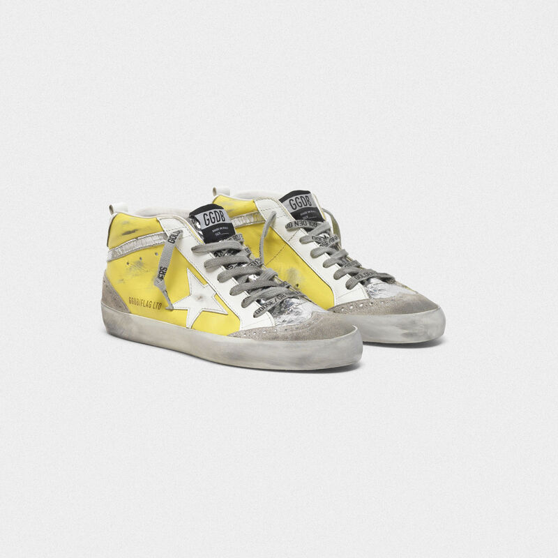 Golden Goose - Mid Star sneakers with suede inserts and crackle details in  image number null