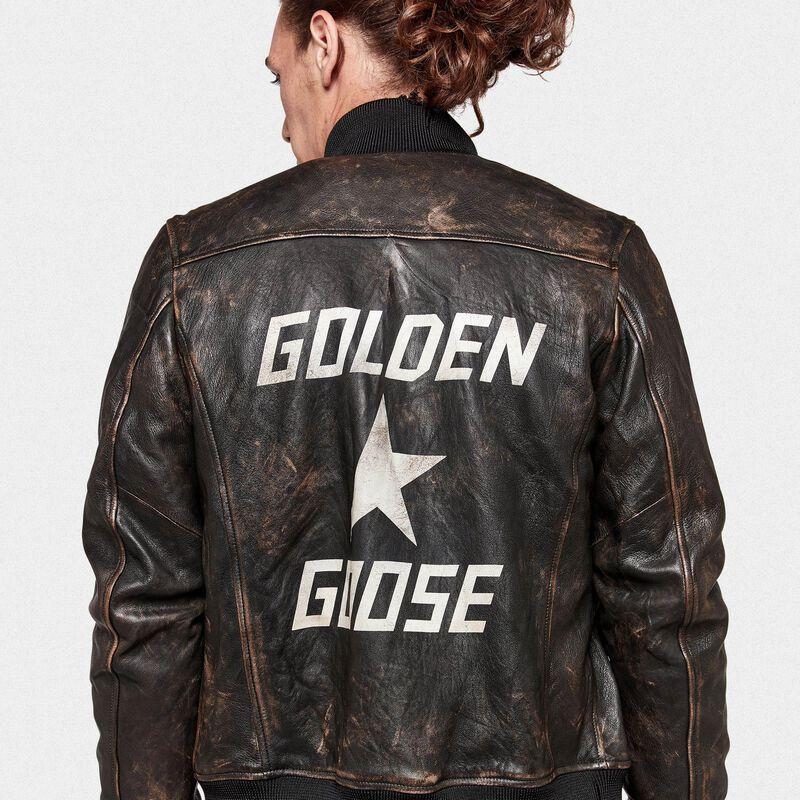 Golden Goose - Bomber Sadao con maxi-stampa sul retro in  image number null