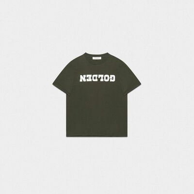 Green Golden T-shirt with contrasting print