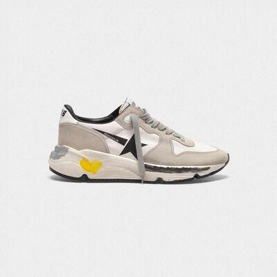 Sneakers Running Sole in pelle e lycra con stella black