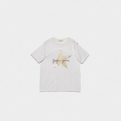 White Hoshi T-shirt with logo print