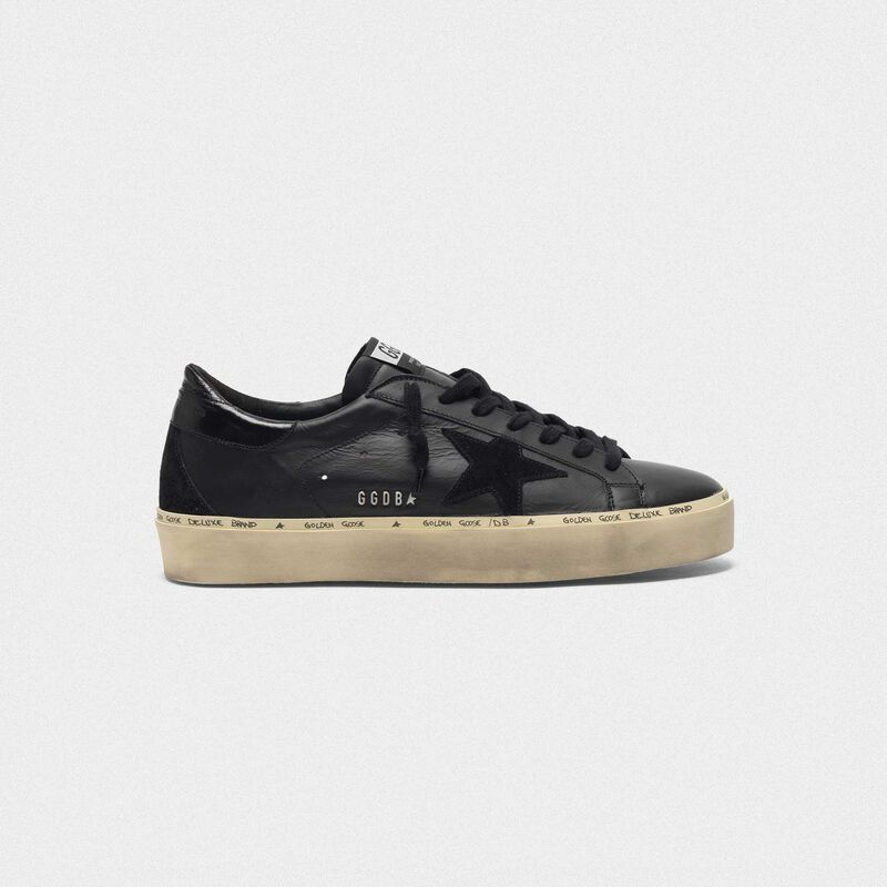 Golden Goose - Sneakers Hi-Star in pelle lettering GGDB borchiato in  image number null