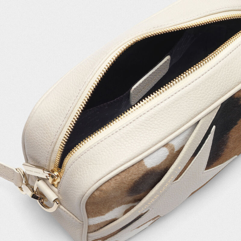 Golden Goose - Star Bag made of cow print pony-effect leather in  image number null
