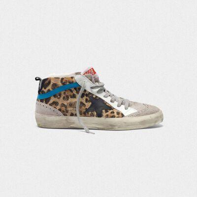 Mid Star sneakers in leopard print pony skin