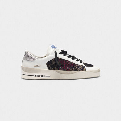 Stardan sneakers with leopard-print star and glittery heel tab