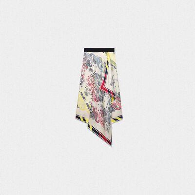 Kaylee skirt in scarf print pure silk