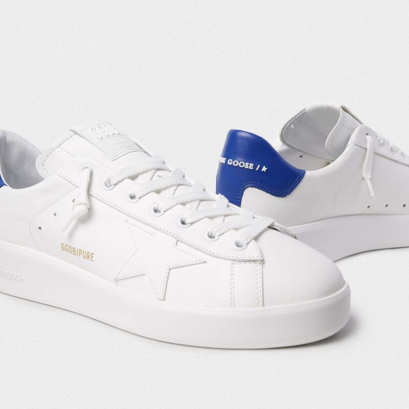 Golden Goose - PURESTAR sneakers with blue heel tab in  image number null