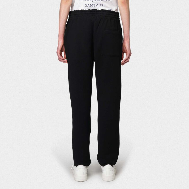 Golden Goose - Black Hamm joggers with Love embroidery in  image number null